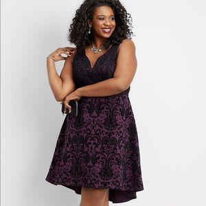 NWT Maurice's plus sized floral fleck hi-low dress